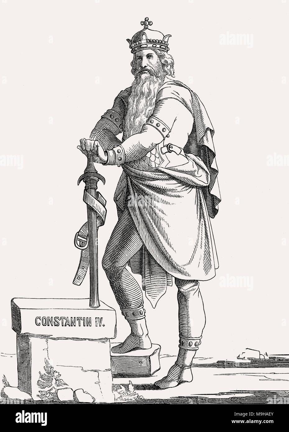 Constantin IV, l'empereur romain de 668 à 685 Photo Stock