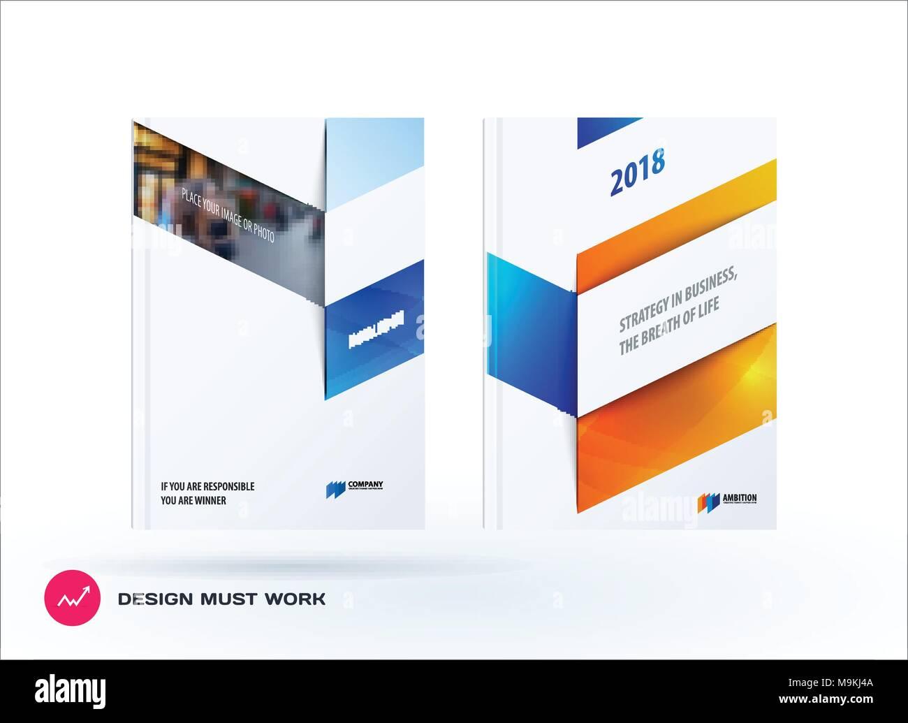 Ensemble De L Entreprise Brochure Design Resume Rapport Annuel De