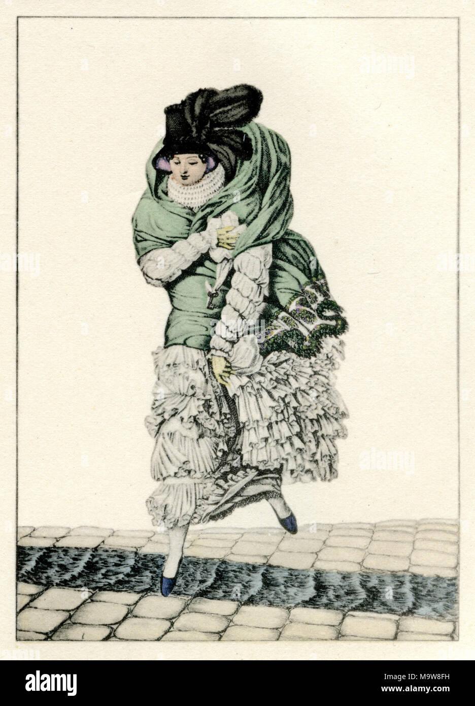 La mode féminine Le Bon Genre, Paris, vers 1810 Photo Stock