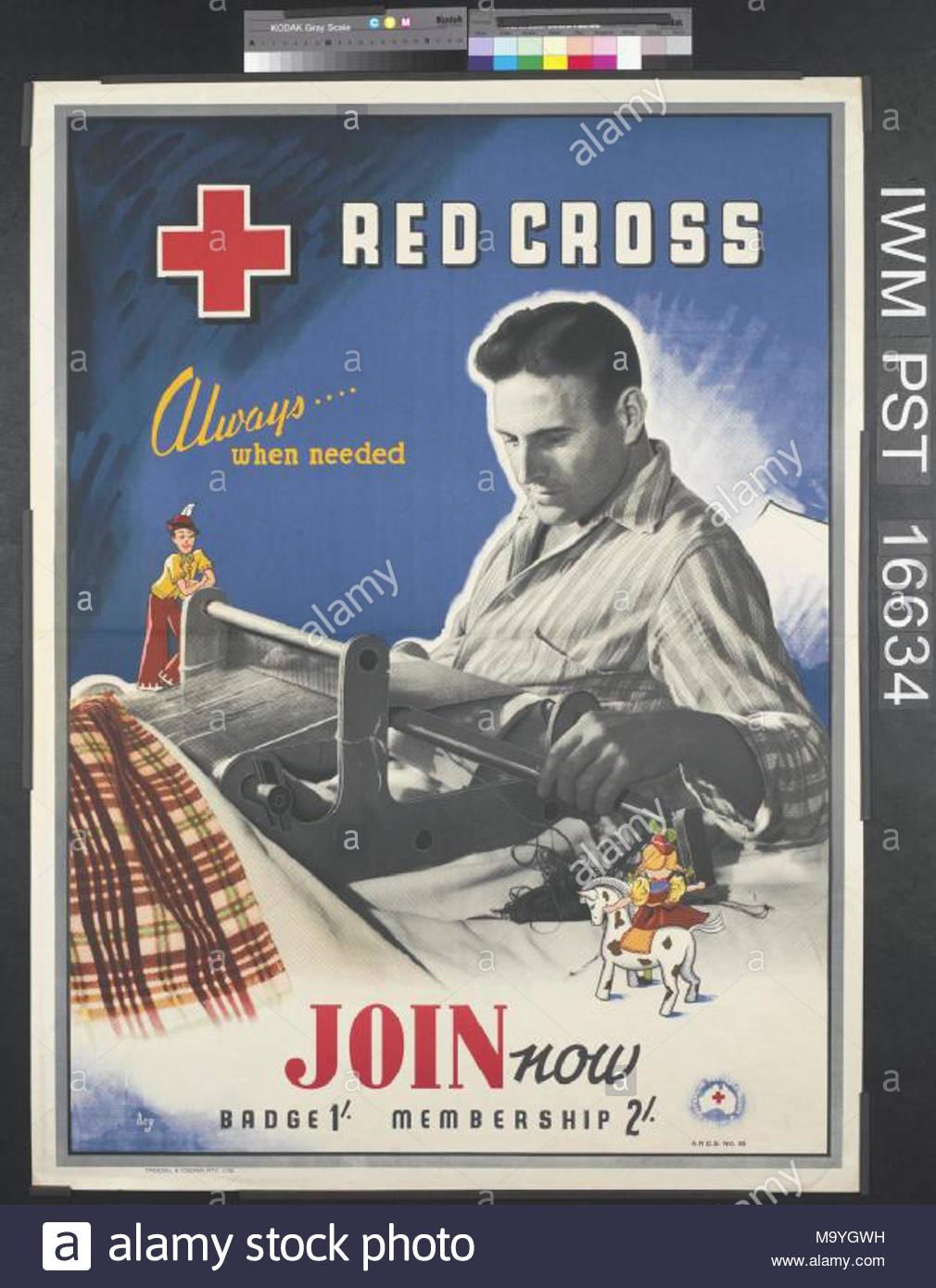 Croix Rouge Toujours Quand Necessaire Ensemble L Image Occupe