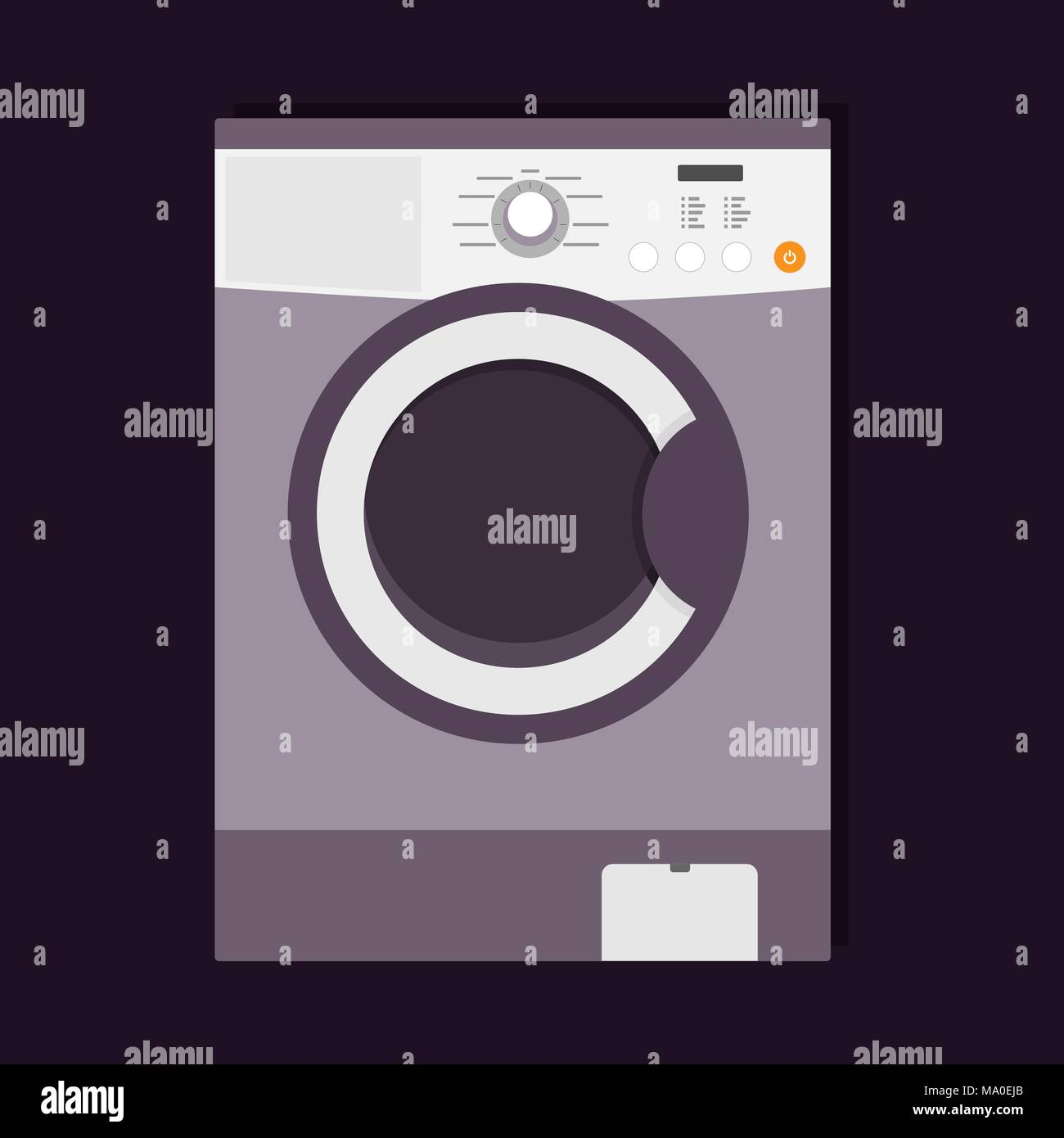 Lave Linge Couleur Gris machine à laver moderne avec un chargement par l'avant, l
