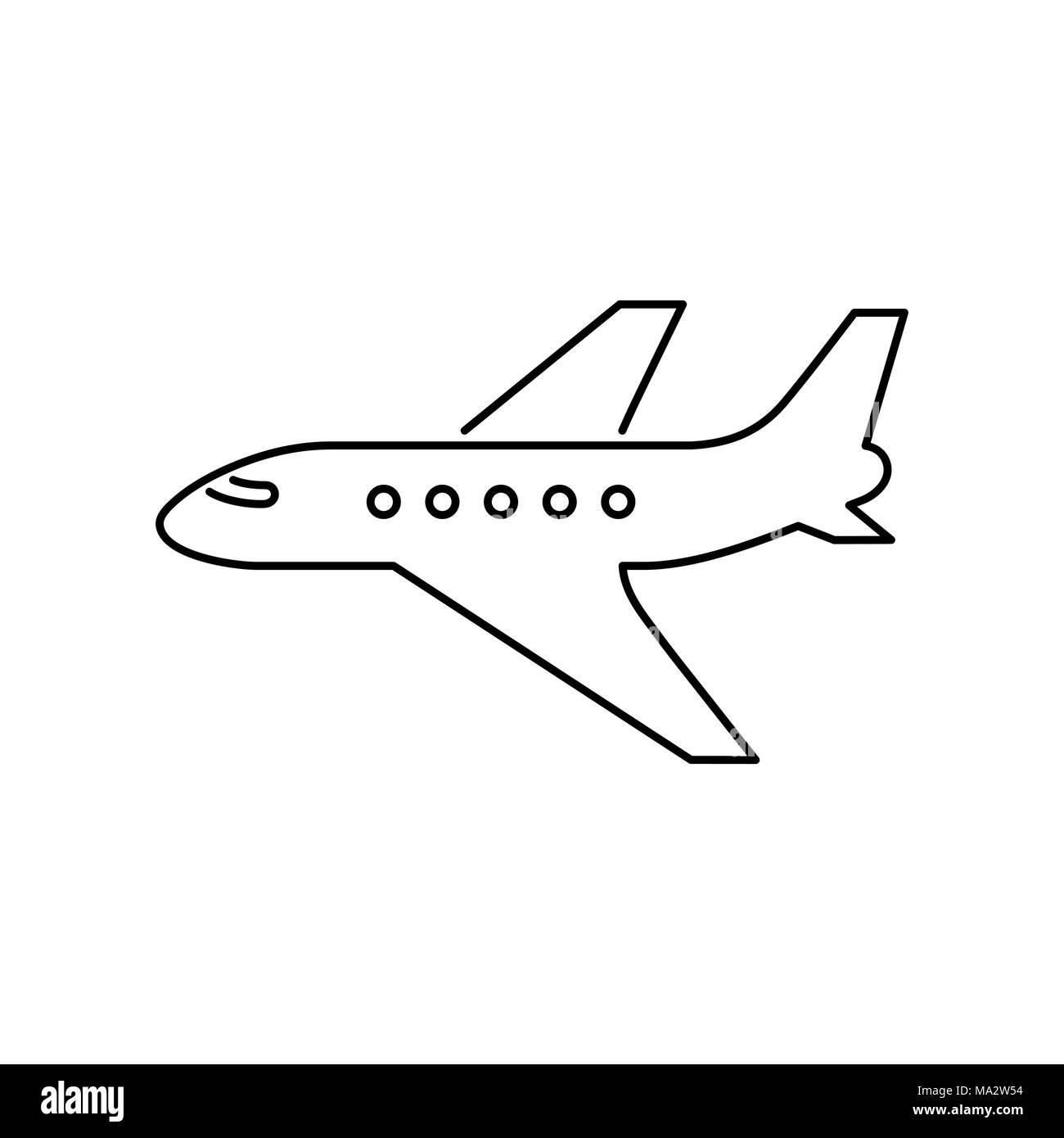 L'icône avion vecteur plat simple illustration. Photo Stock
