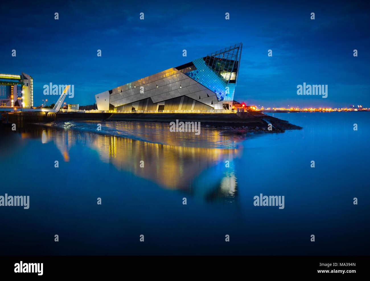 L'Aquarium Deep, Hull, East Yorkshire, UK - 28 mars 2018 Photo Stock