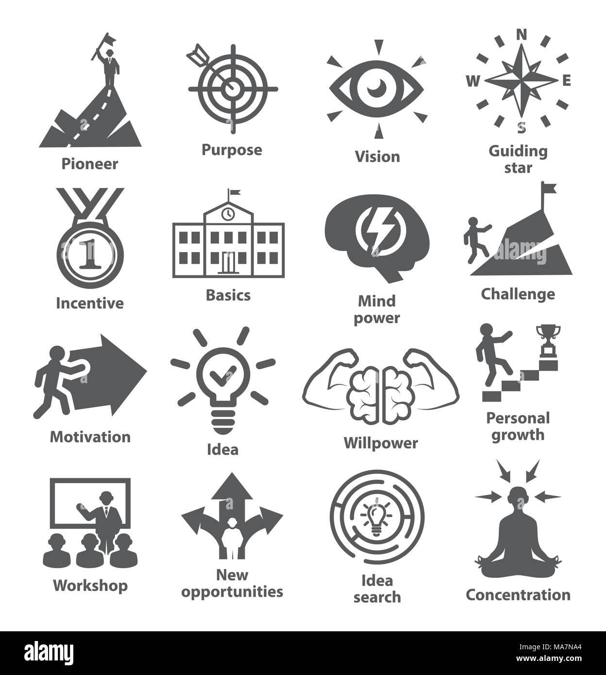 Pack 41 icônes de gestion d'entreprise Illustration de Vecteur