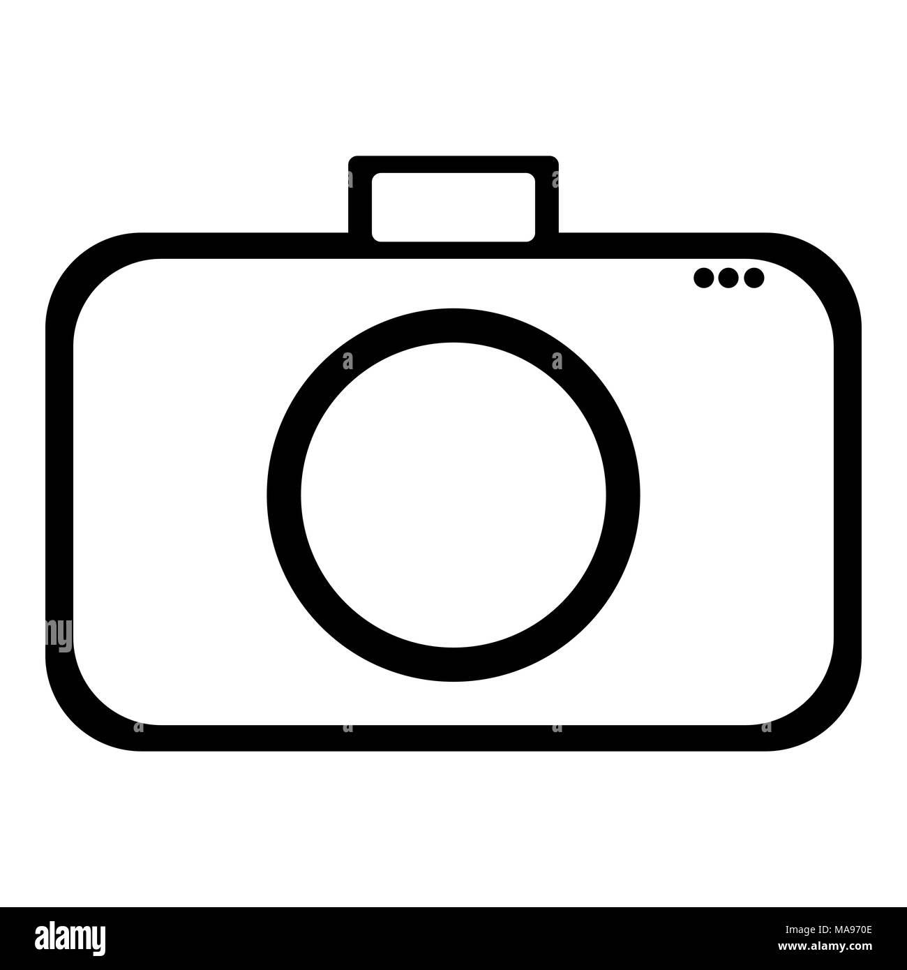 Symbole de l'icône de la conception de l'appareil photo Illustration de Vecteur