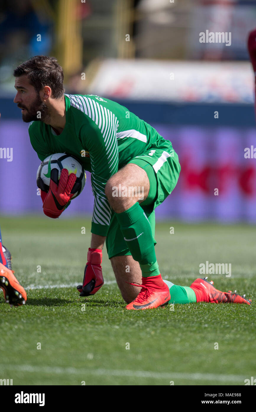 efaaab9bc Alisson Ramses Becker de Roma pendant l Italien  Serie  un match entre  Bologne