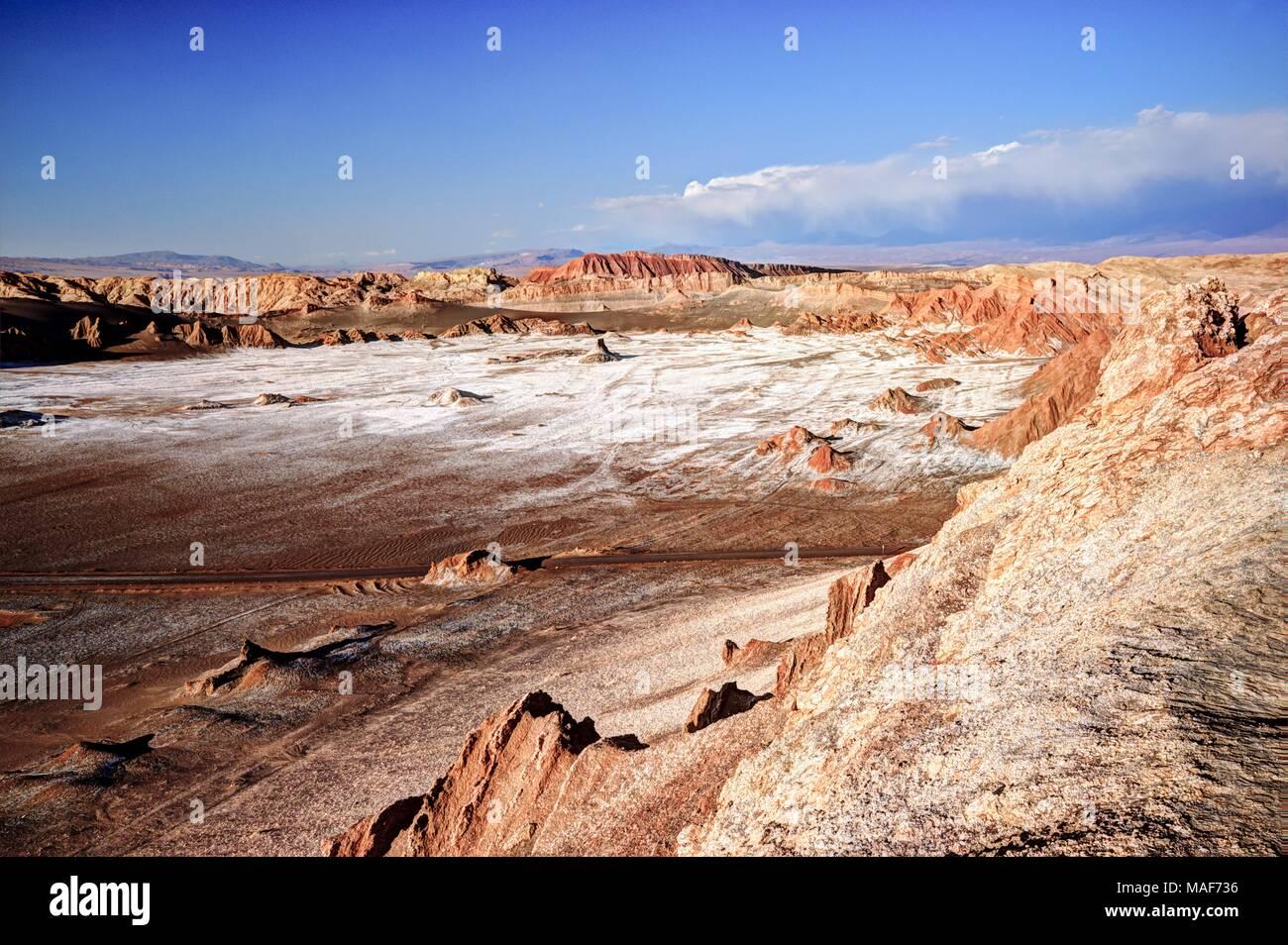 Paysage désertique et sec dans le nord du Chili, Atacama Photo Stock