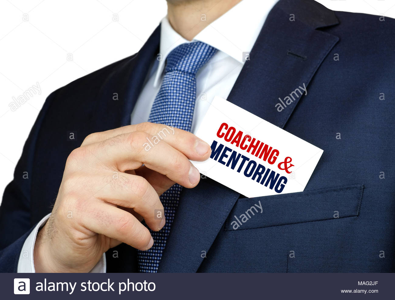 Coaching et mentorat - carte de conseils Photo Stock