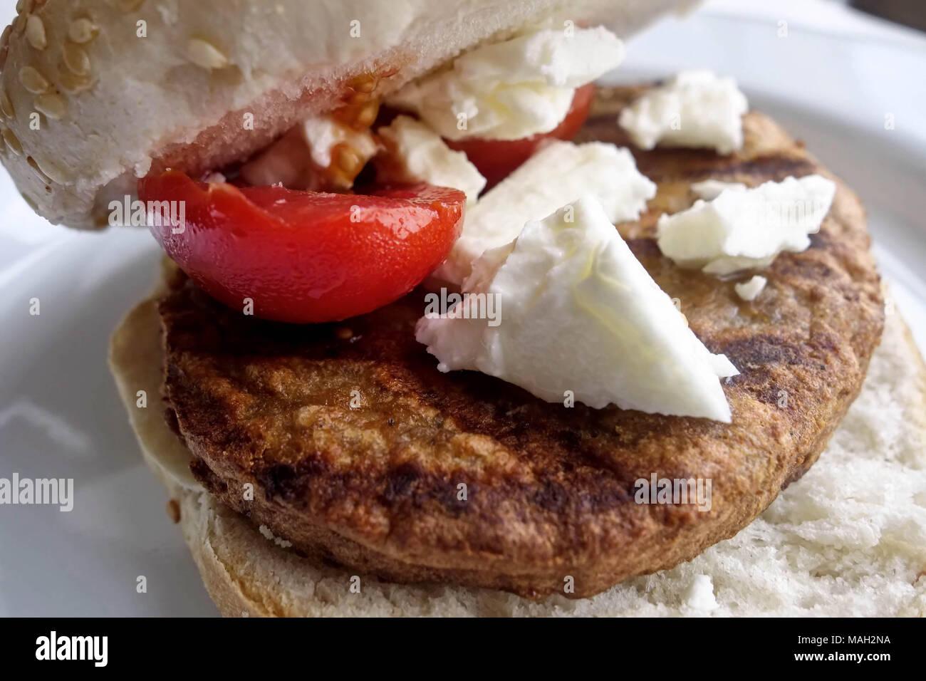 Burger Veggie de Feta Photo Stock