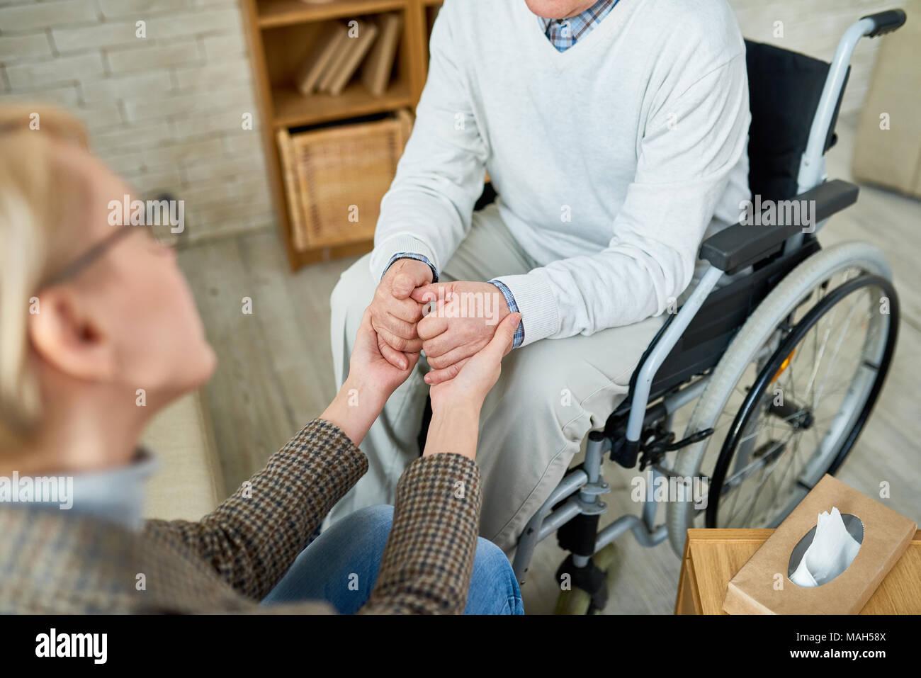 L'empathie dans la thérapie Photo Stock