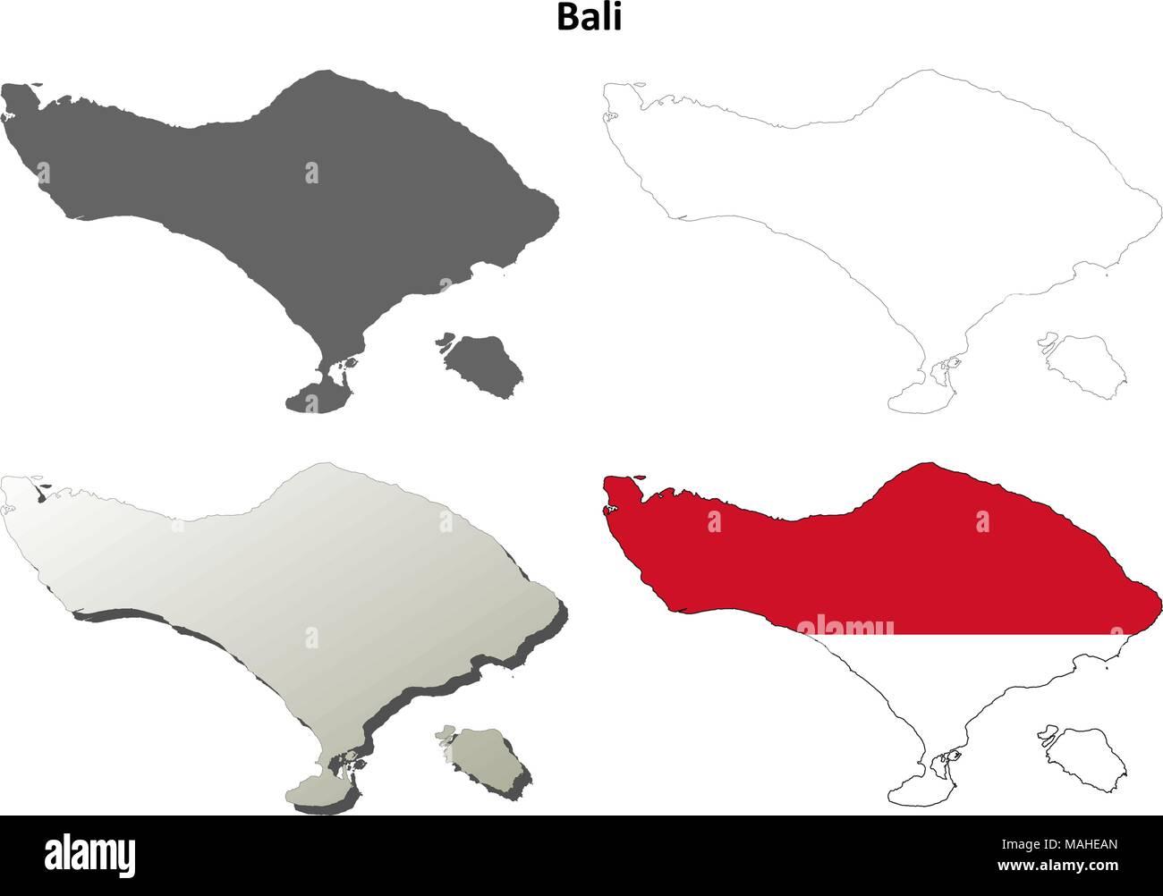 Carte Muette Bali.Jeu De Carte Muette De Bali Vecteurs Et Illustration Image