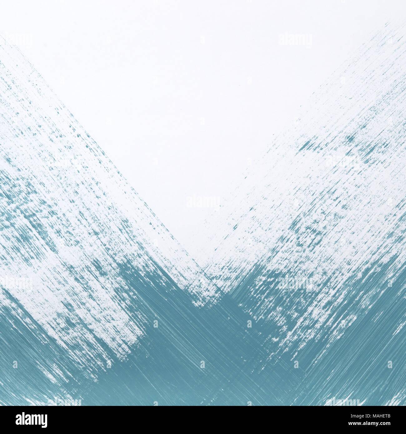Teal traits de peinture sur fond blanc parfait pour les médias sociaux et des toiles de fond pour ajouter votre image ou texte. Flay jeter ou les frais généraux de droit Banque D'Images