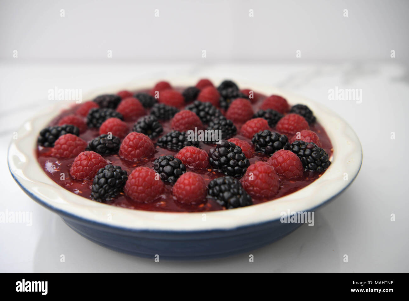 Toute maison berry cheesecake Banque D'Images