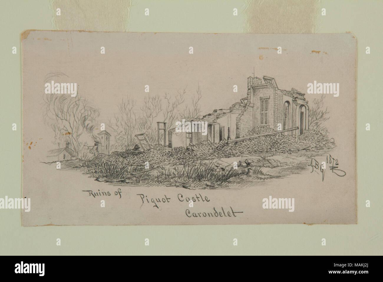 """Maison En Ruine Dessin dessin au crayon """"ruines du château des carondelet piquot"""