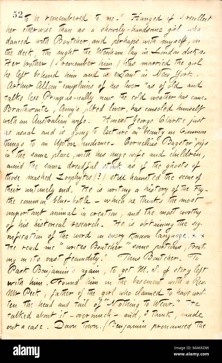 Décrit Une Lettre De William Boutcher Transcription Se