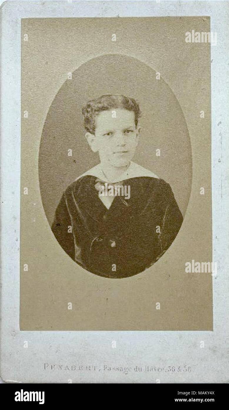 Carte Daffaires De Claude Debussy Enfant Vers 1875 Compositeur Franais N Le 22 Aot 1862 Saint Germain En Laye Et Mort 25 Mars 1918 Paris