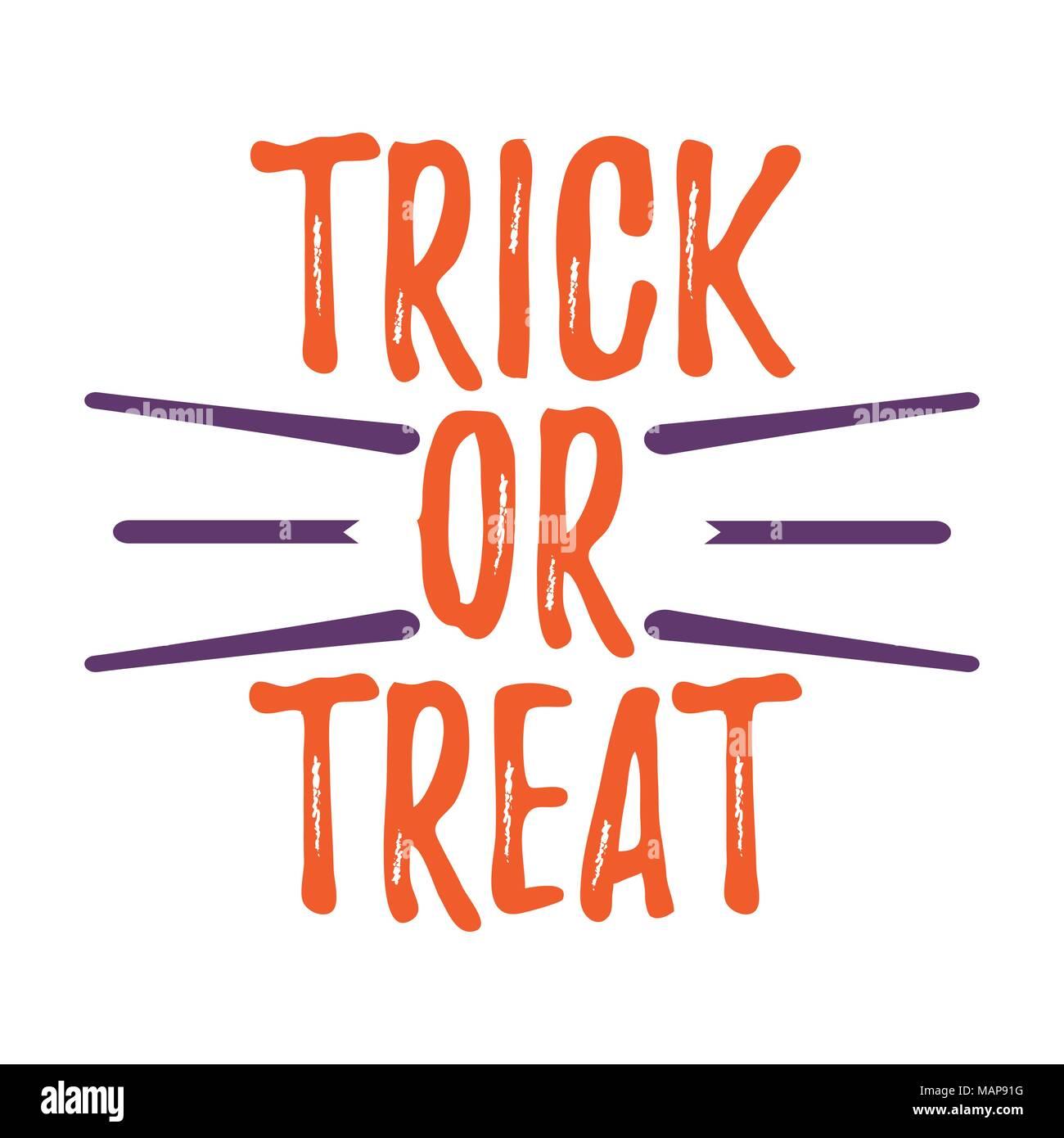 Happy Halloween Carte de souhaits avec texte calligraphié. Affiches et de bannières d'Halloween sur fond blanc. Vector illustration. Illustration de Vecteur
