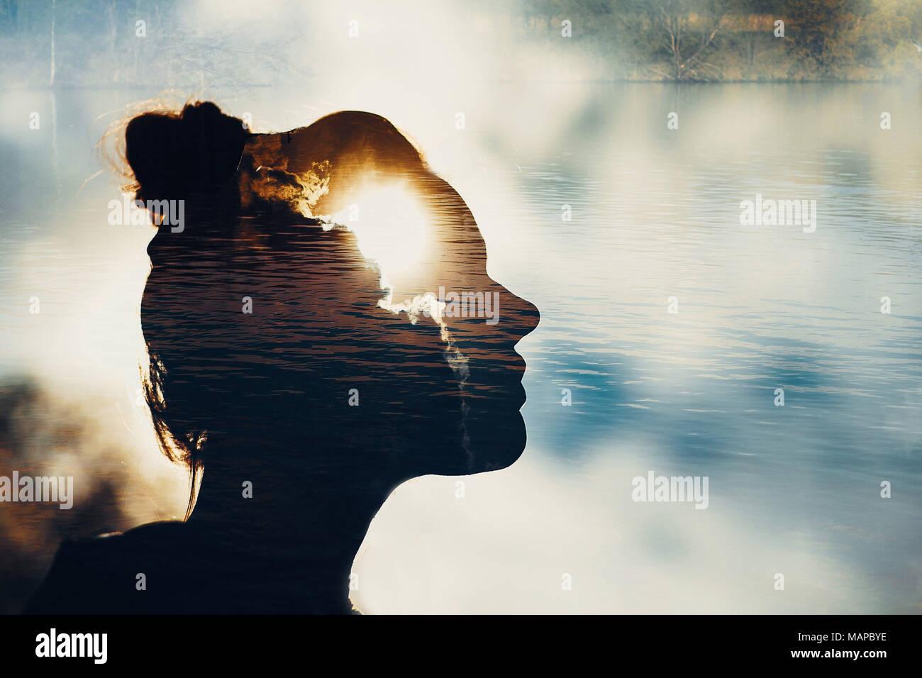Psychologie et philosophie sens esprit concept émotion Photo Stock