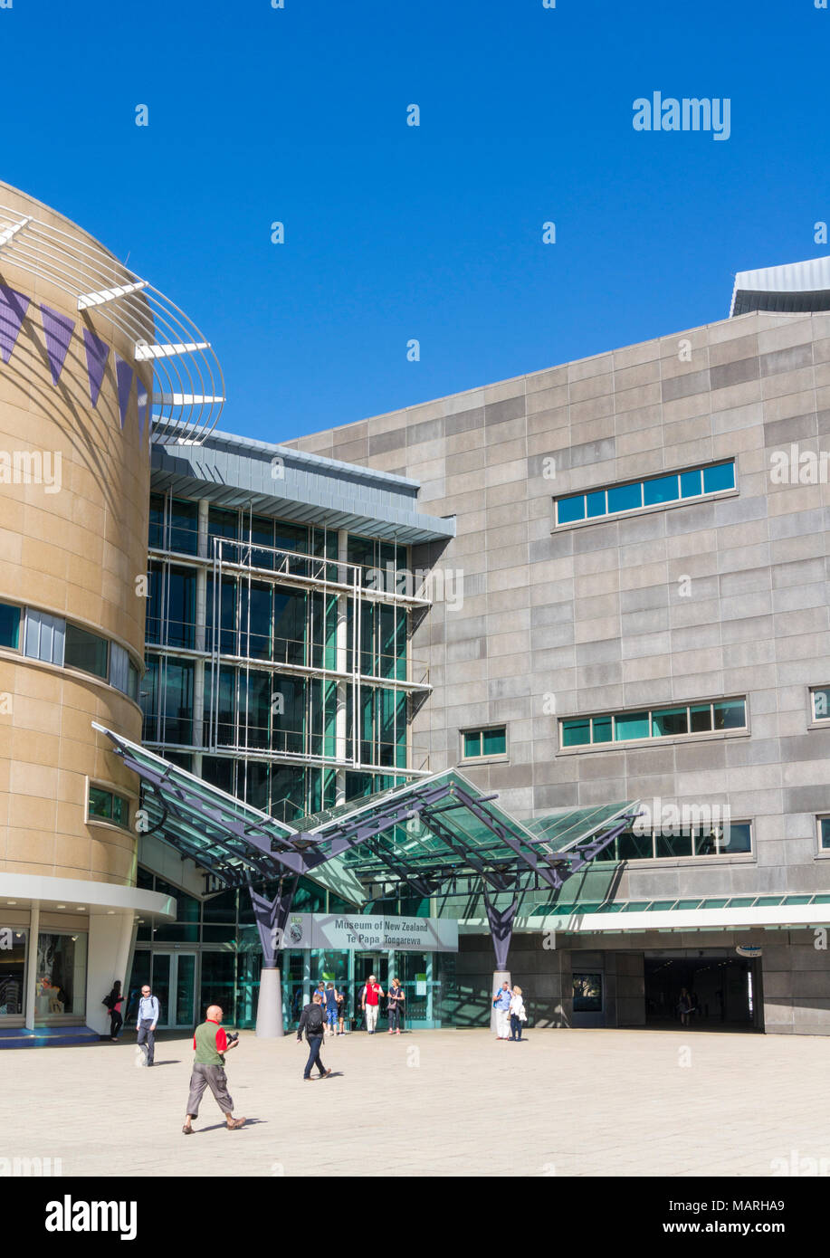WELLINGTON NEW ZEALAND Museum of New Zealand Te Papa Tongarewa musée national et galerie d'art mixte waterfront Wellington Wellington Nouvelle-Zélande NZ Photo Stock