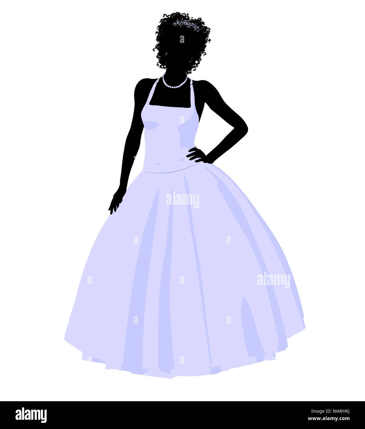 Femme Africaine Robe De Illustration Dans Une Mariage