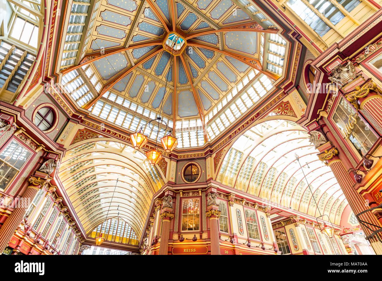 Leadenhall Market, City of London, UK Photo Stock
