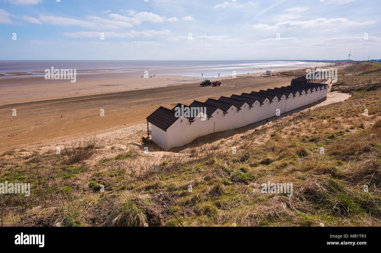 Belvedere Beach, Bridlington, East Riding, Yorkshire, Angleterre, Royaume-Uni. Banque D'Images