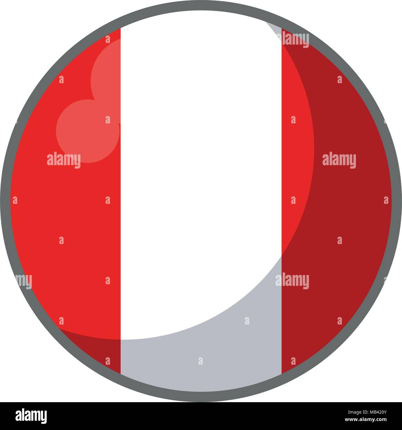 Drapeau Rond pérou drapeau rond vecteurs et illustration, image vectorielle