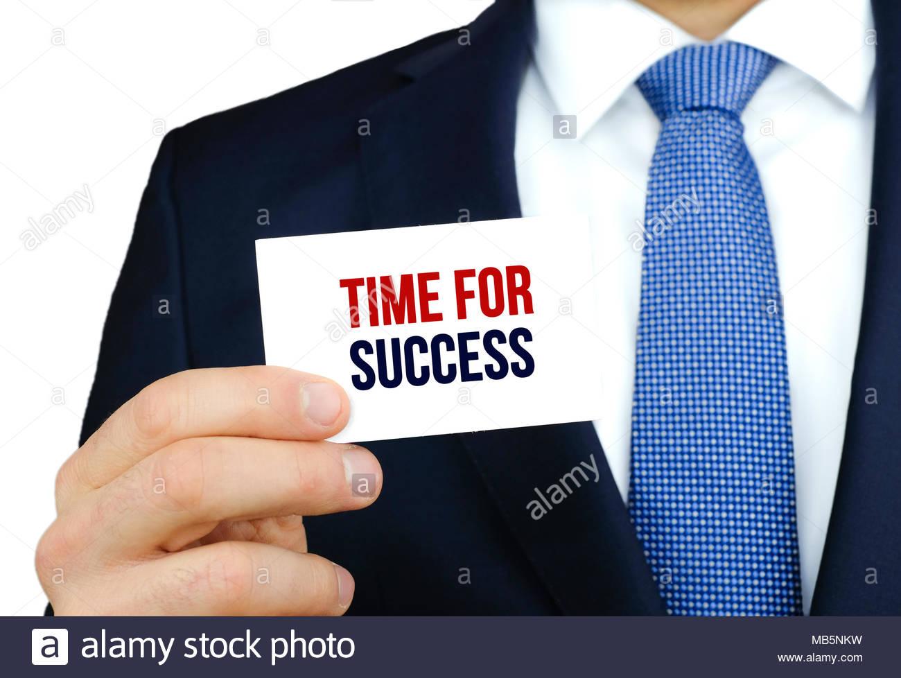 Temps pour le succès Photo Stock