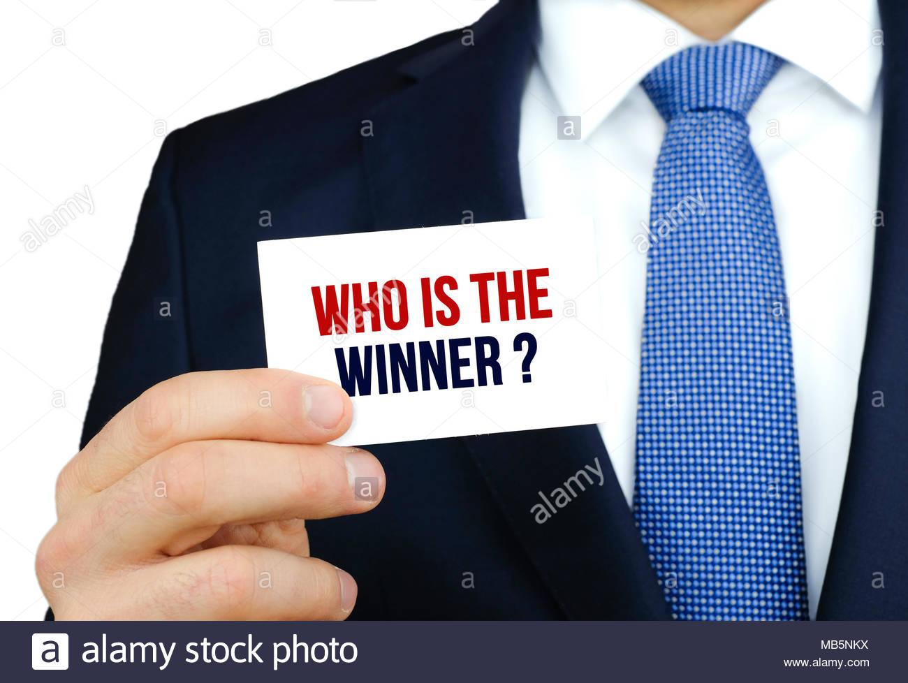 Qui est le gagnant Photo Stock