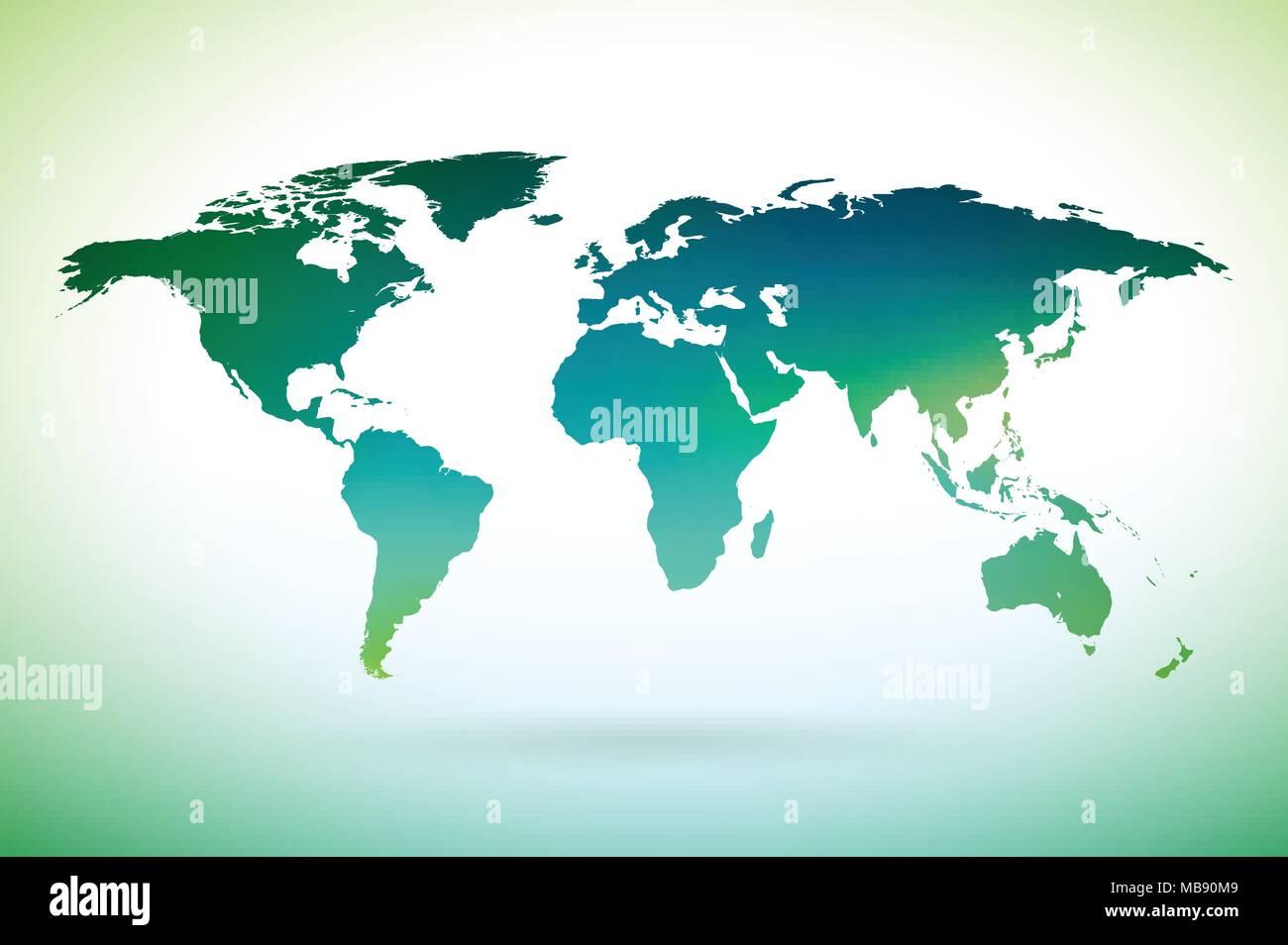 Terre Design | Carte Du Monde Design Sur Fond Blanc Sur L Environnement Concept