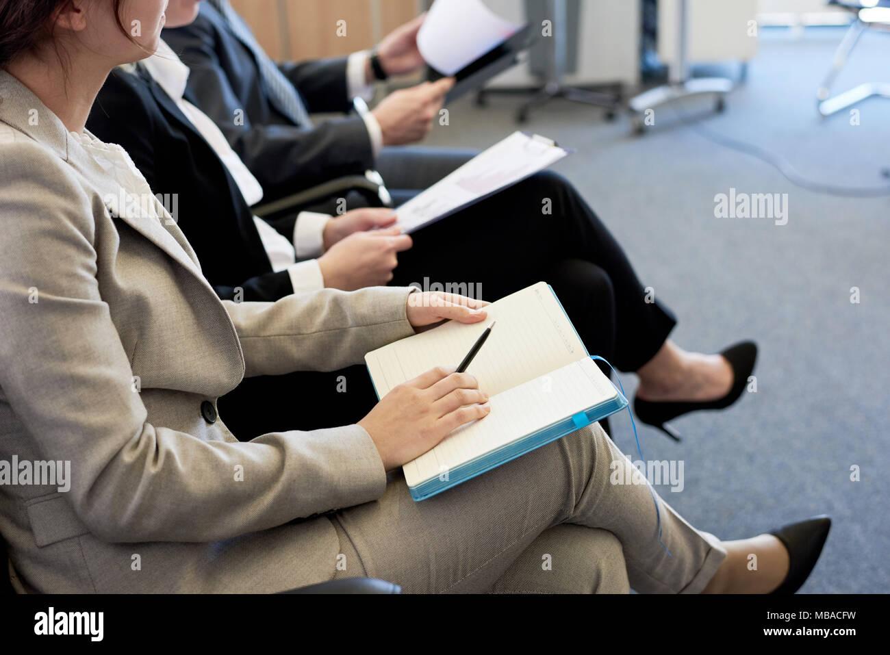 Les gens d'affaires en audience Photo Stock