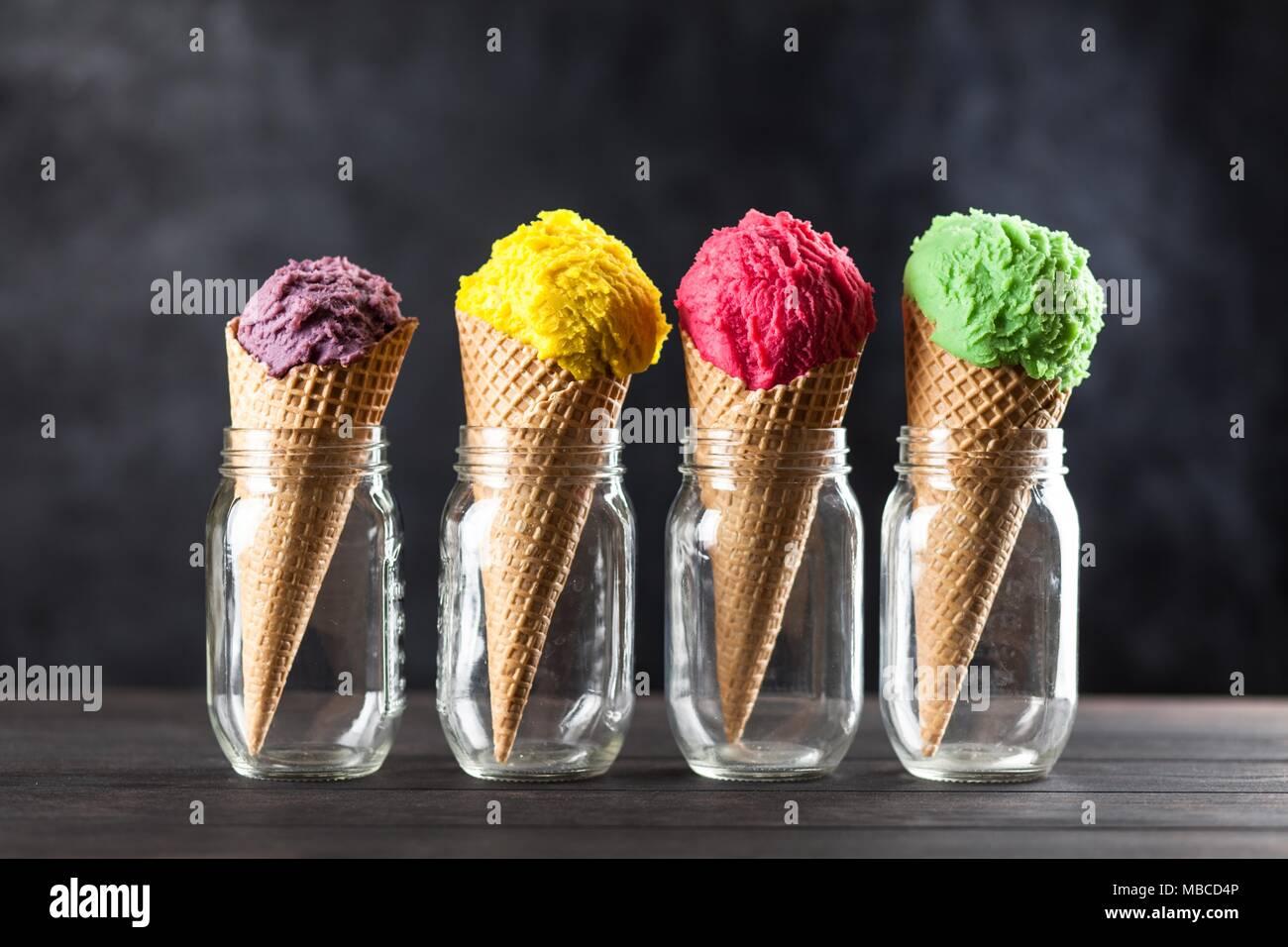 Ice cream cone Photo Stock