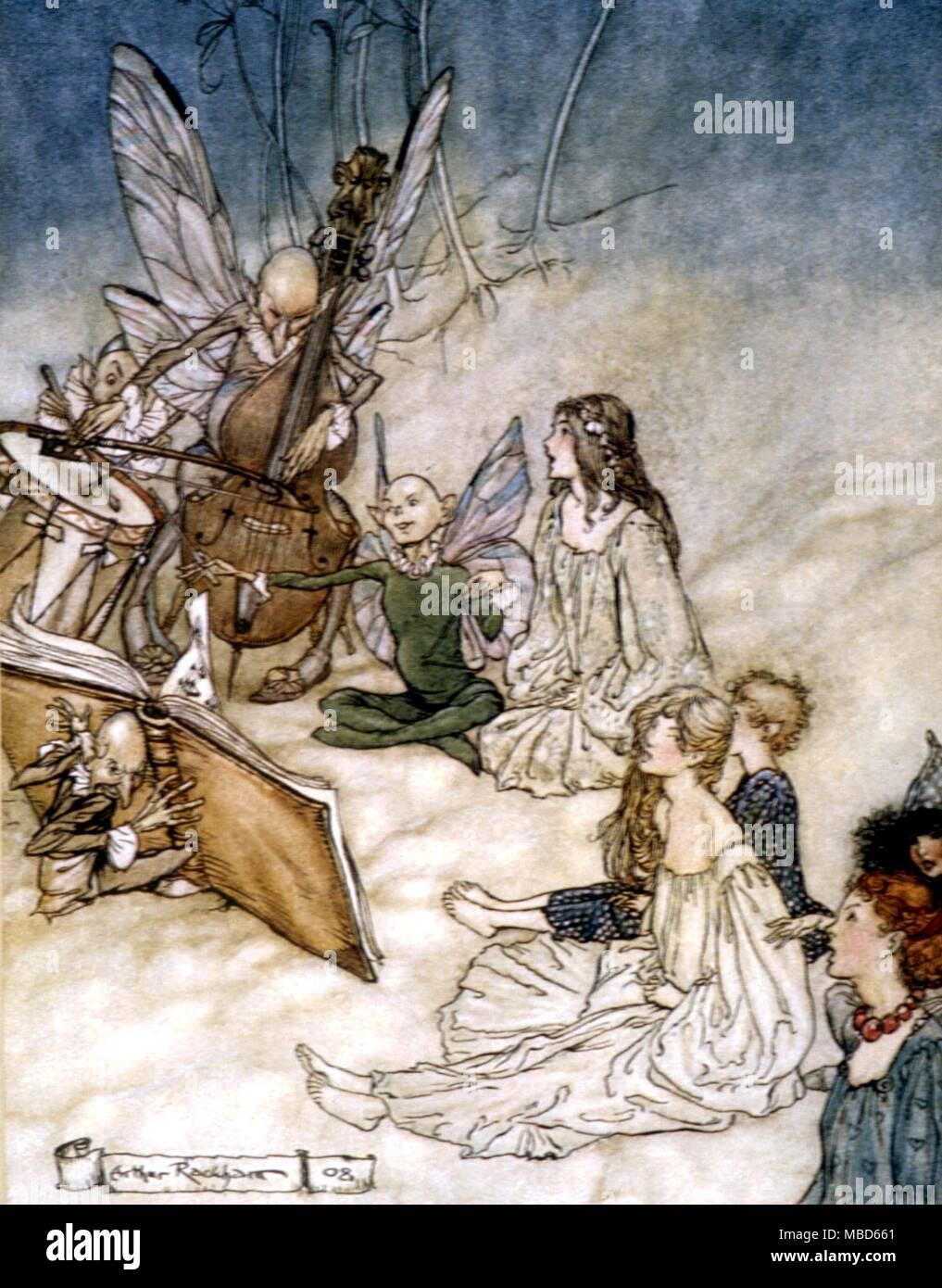 Illustration Conte De Fée contes de fées - songe d'une nuit - et une fée chanson. illustration