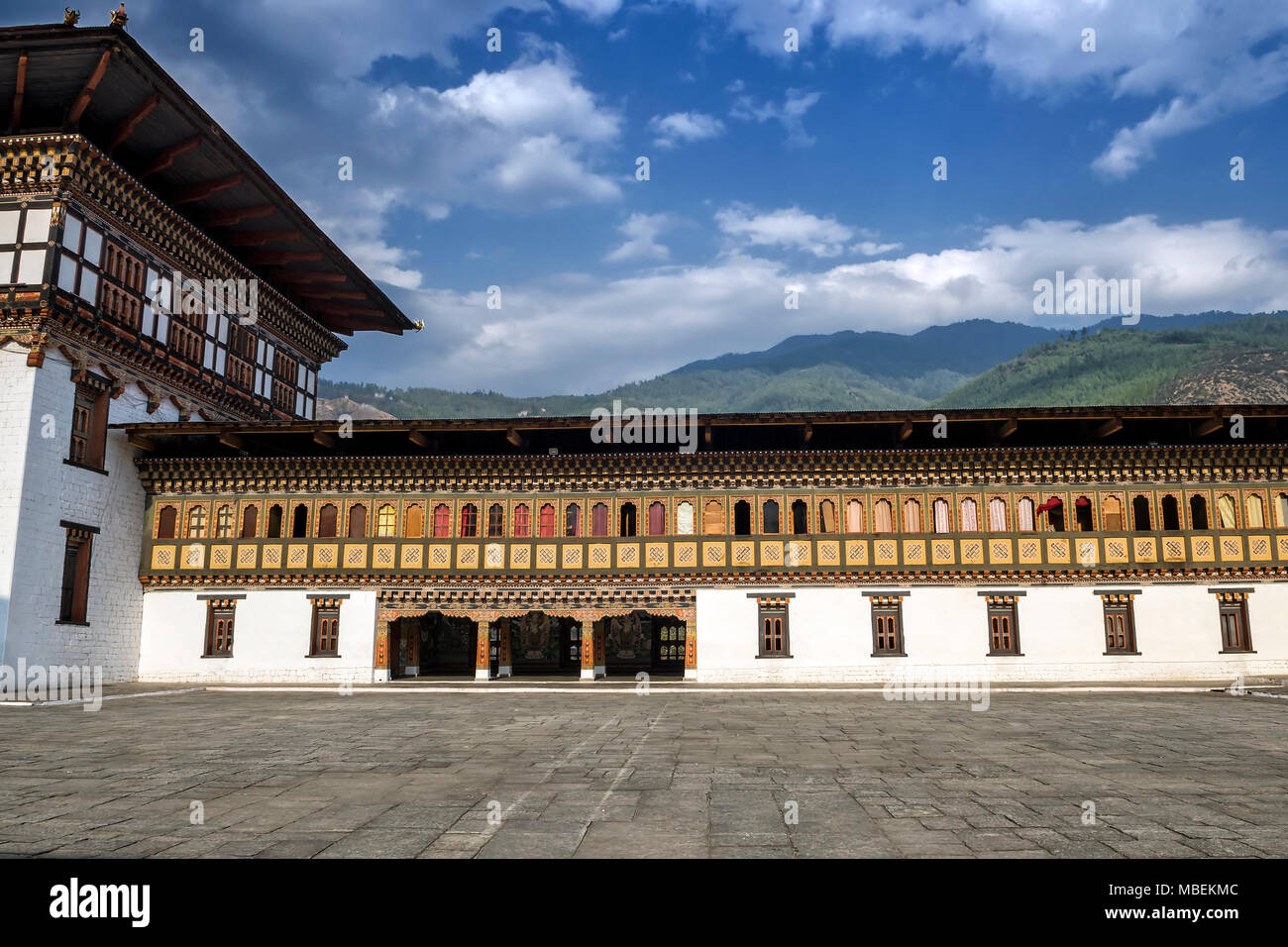 Tashichho Dzong, Thimphu, Bhoutan - le plus grand respect Dzong à Thimphu Photo Stock