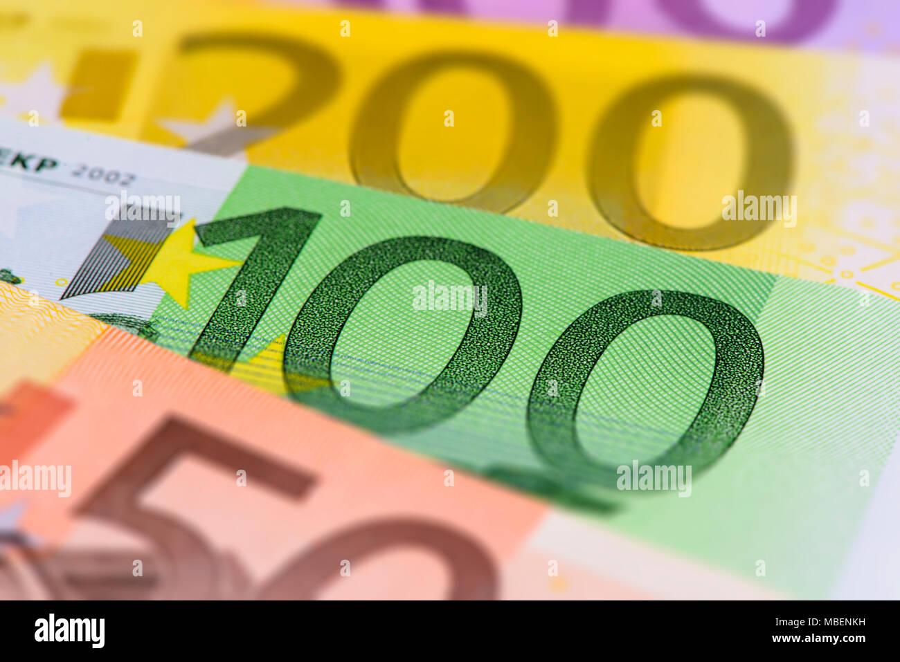 Beaucoup de billets de monnaie européenne Photo Stock