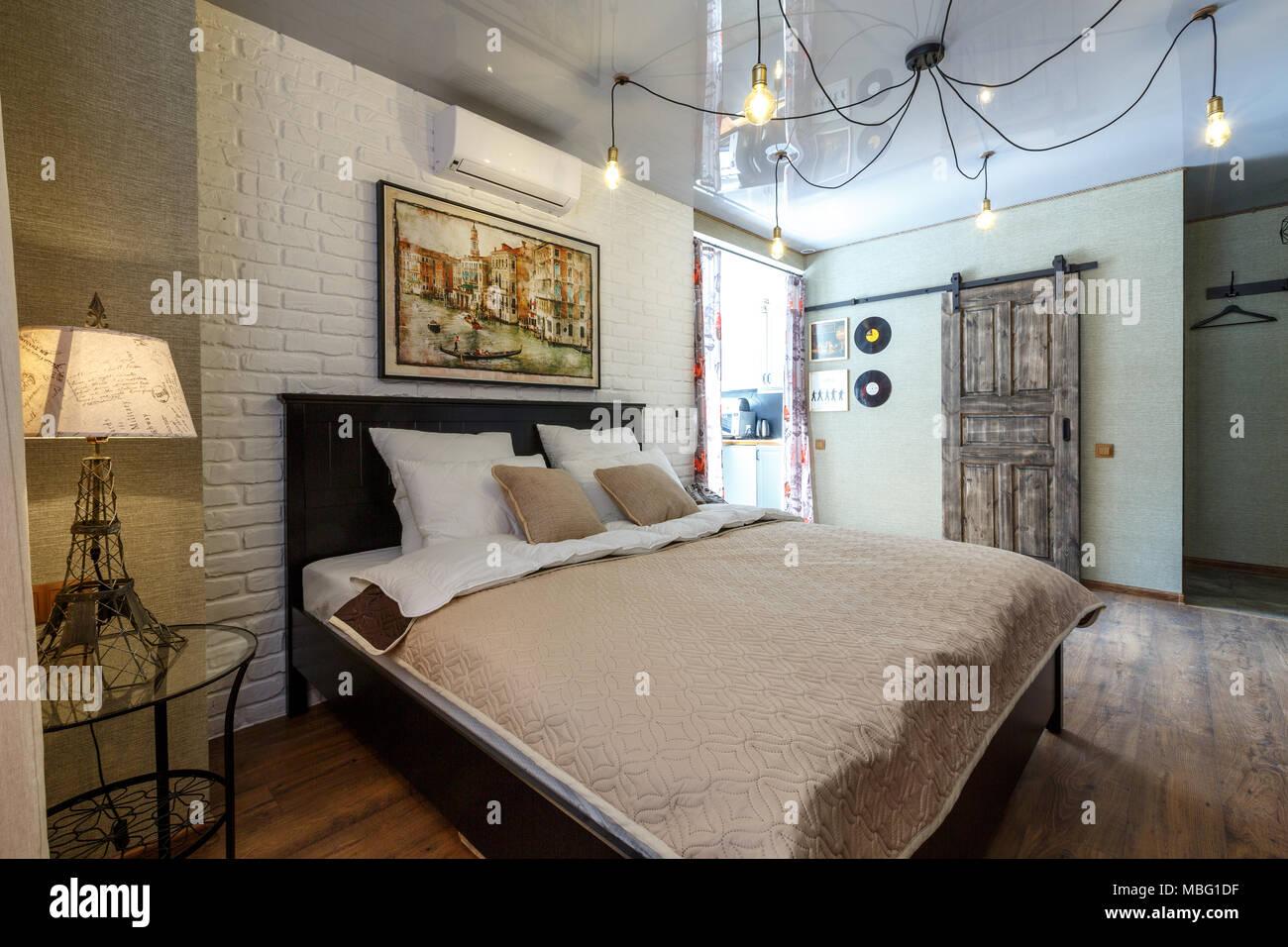 Chambre d\'hôtel, l\'\'aparthotel, appartement avec chambre à coucher ...