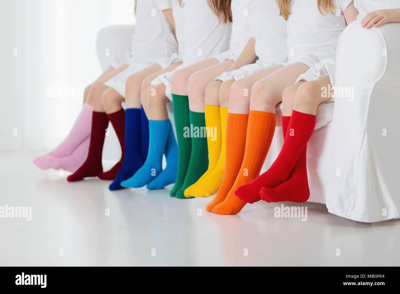 Hezeisoar B/éb/é Fille Collants Enfants Coton Tricot/ées Chaussettes B/éb/é Respirant Leggings 6 Mois-6 Ans Vari/ét/é Couleurs
