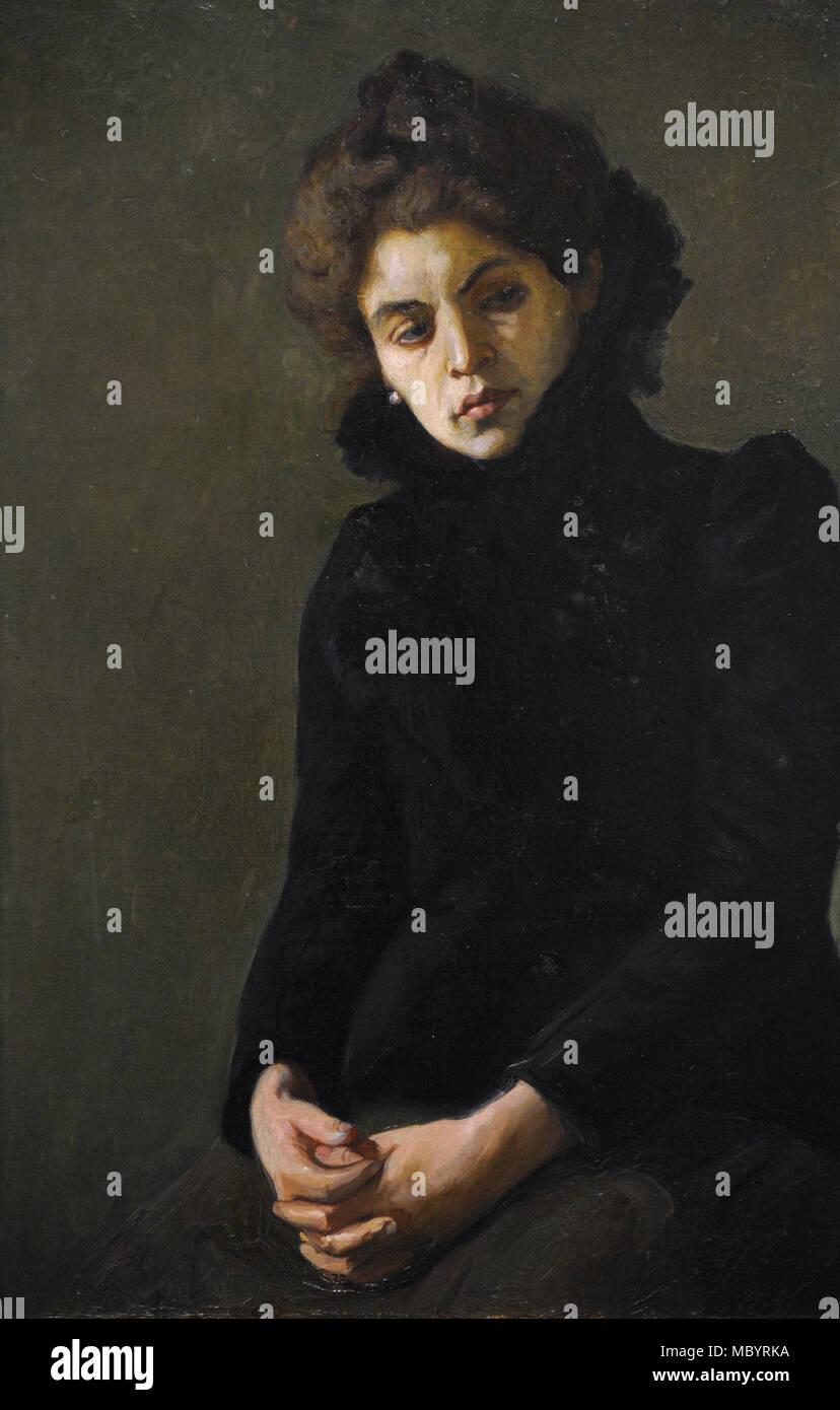 Stanislaw Bohusz-Siestrzencewicz (1869-1927). Peintre lituanienne. Étude d'une séance portrait femme, début du xxe siècle. Galerie nationale d'art Vilnius, Lituanie. Photo Stock
