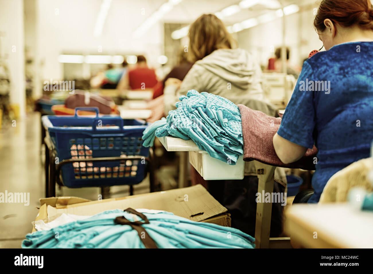 L'industrie textile et du tissu Photo Stock