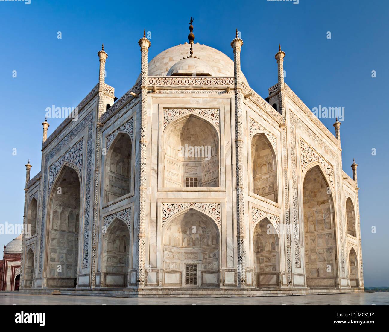 Taj Mahal à l'aube de la lumière, Agra, Inde Banque D'Images