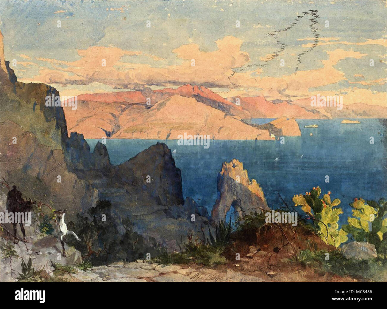 Fripp Alfred Downing - Capri Photo Stock