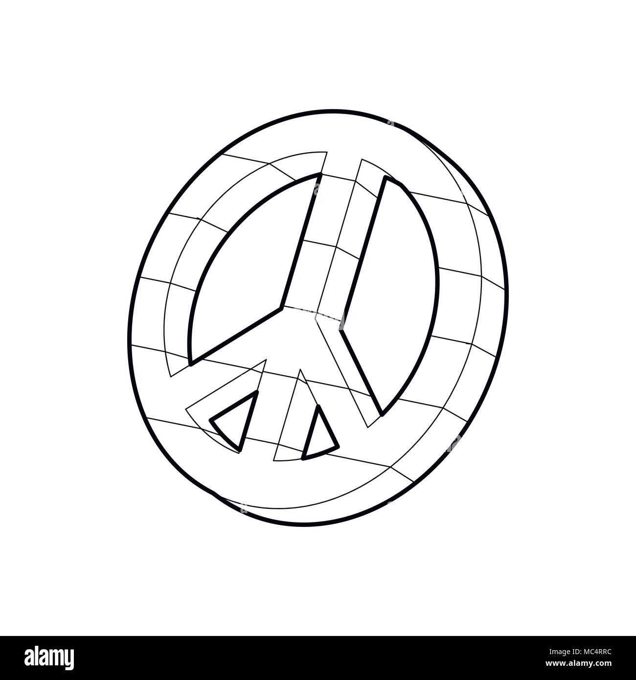 Symbole du Pacifique, l'icône de style contour Photo Stock