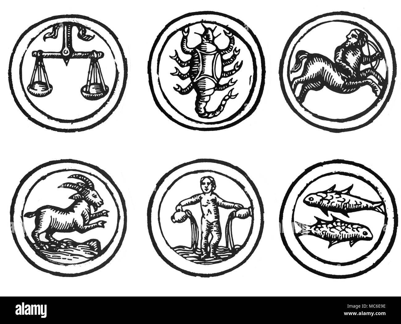 Calendrier Du Zodiaque.Astrologie Zodiaques Six Images Des Douze Signes Du