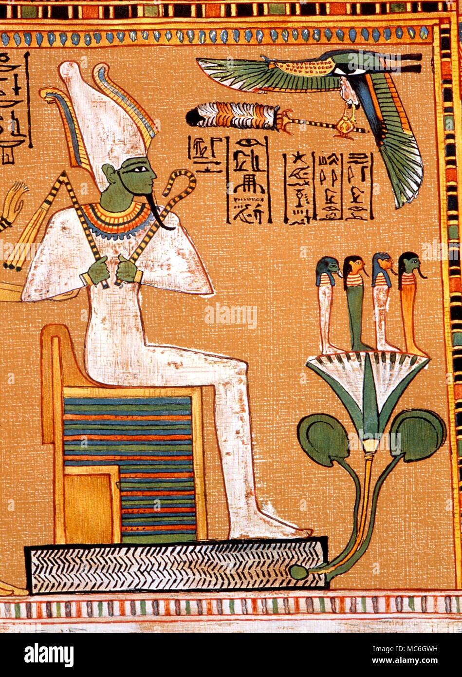 La Mythologie Egyptienne Osiris Le Dieu Osiris Intronise