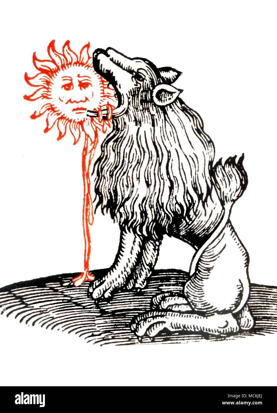 Alchemy Lion Vert Imprimer Symbolique Alchimique Montrant Le Lion Vert Manger Le Soleil Apres Un 16e Siecle Imprimer Photo Stock Alamy