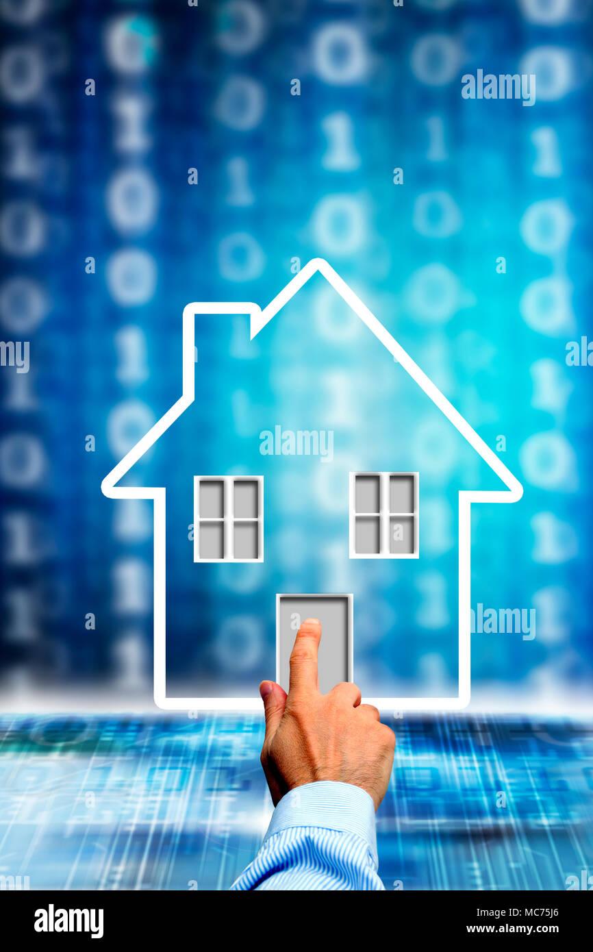 Concept illustration pour la haute technologie moderne et smart home Photo Stock
