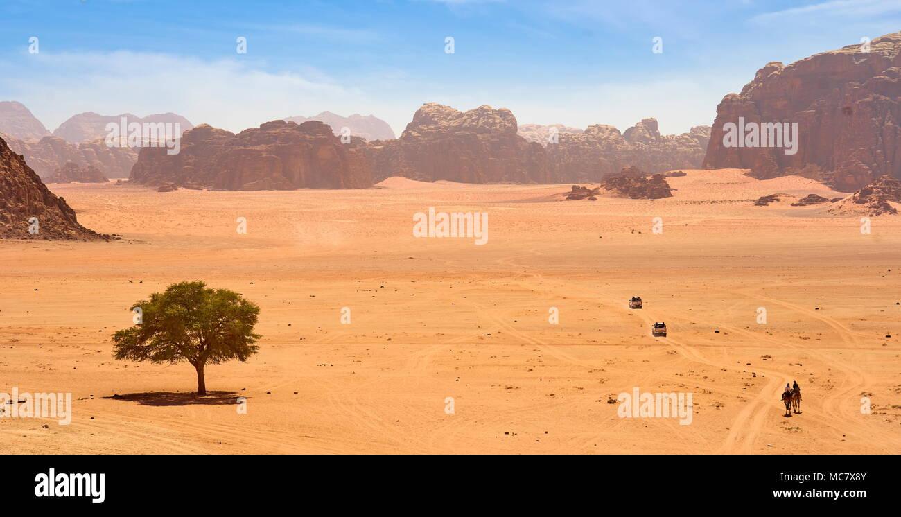 Le désert de Wadi Rum, Jordanie Banque D'Images