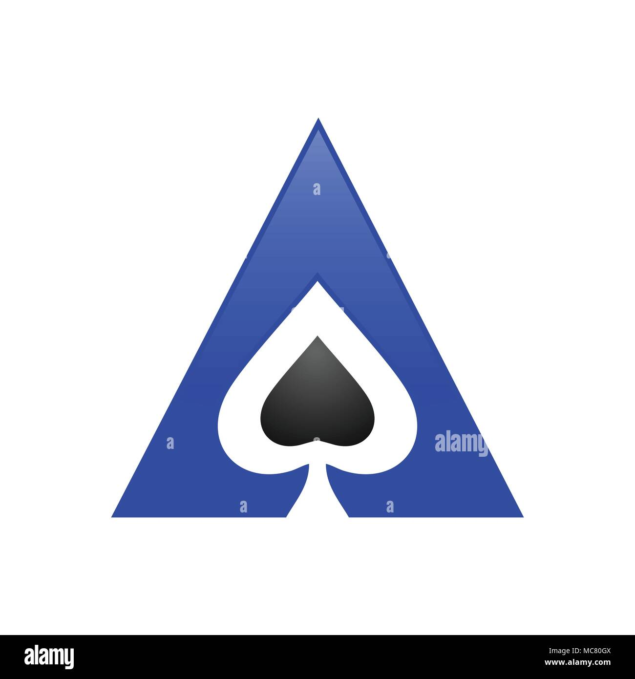 Spade Triangle Ace Symbole Vecteur Conception Logo Graphique Photo Stock