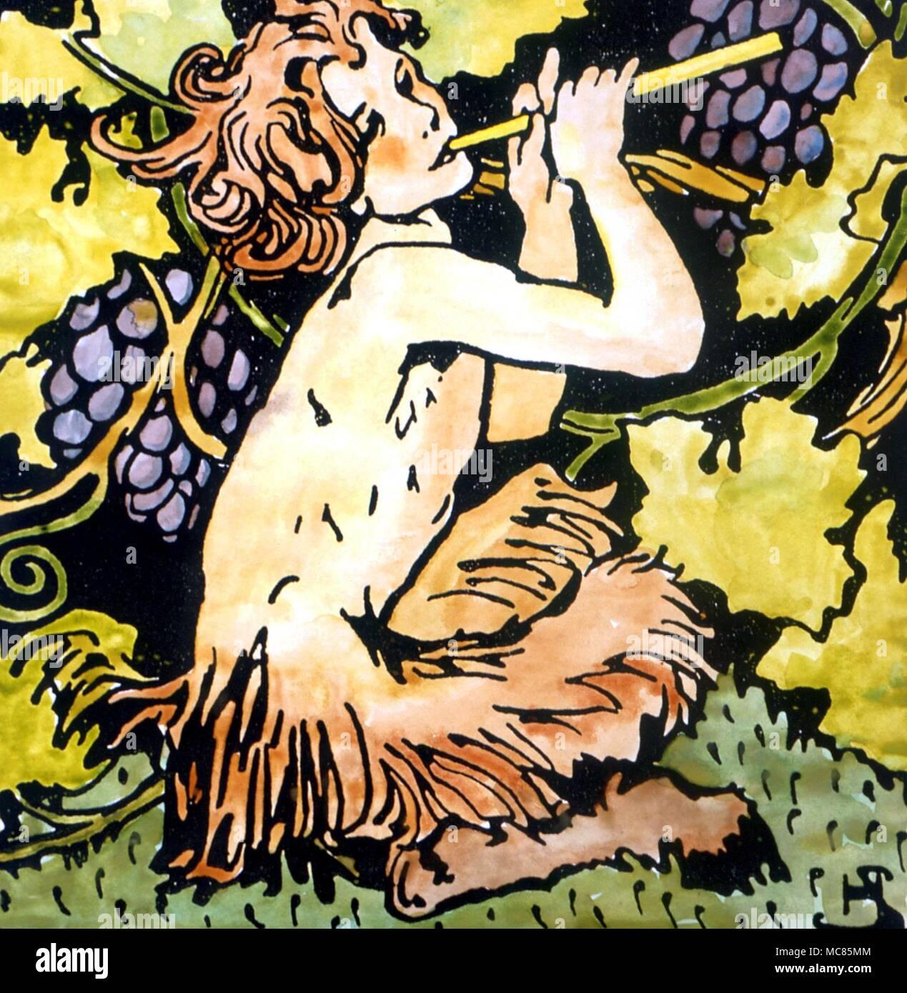 La Mythologie Grecque De Droit Du Grand Dieu Pan Coloriée à