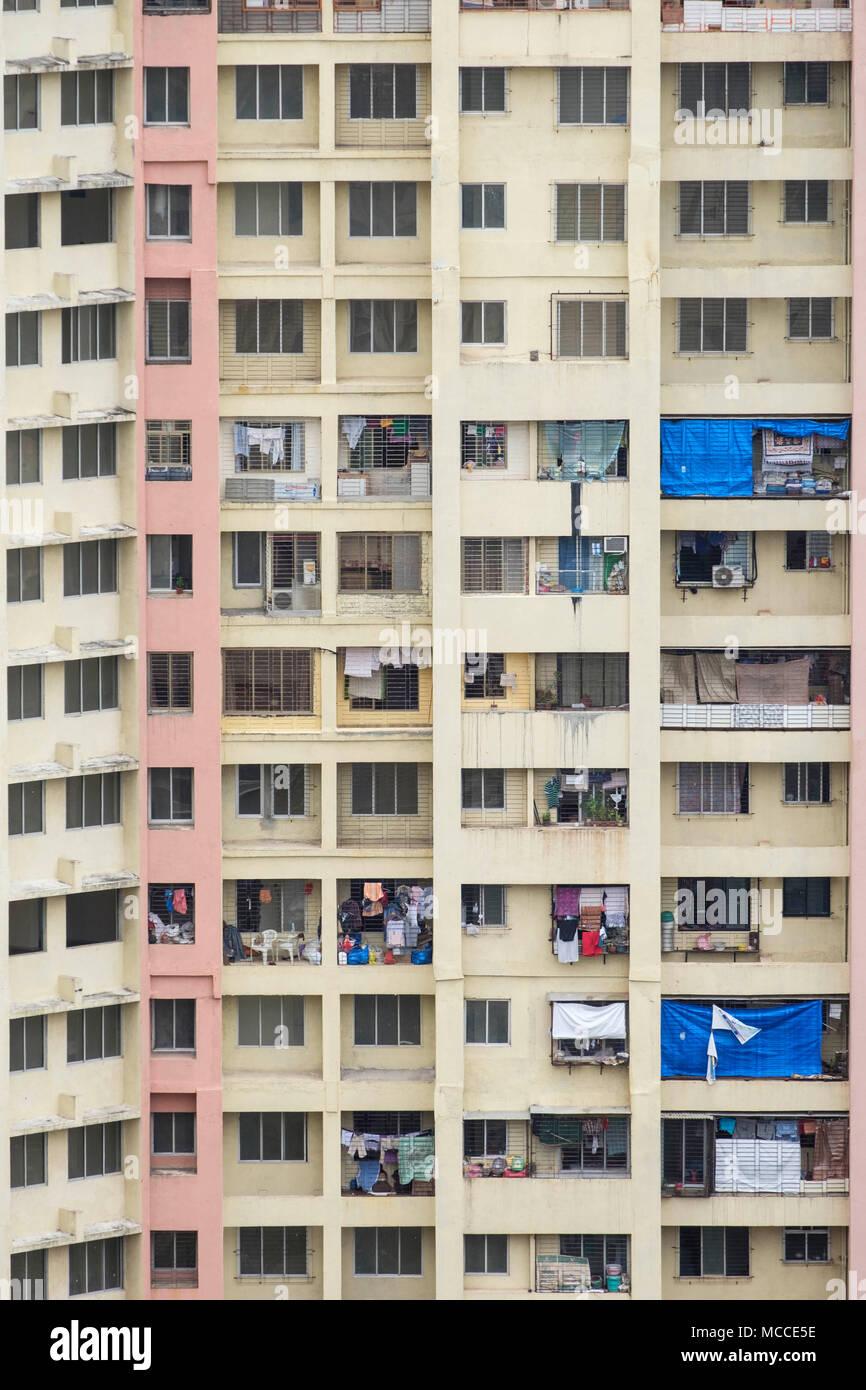 Un bloc d'appartement au sud de Mumbai, Maharashtra, Inde Photo Stock